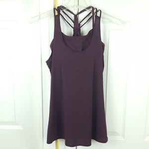 Athleta Workout Athletic Open Back Tank Top XS